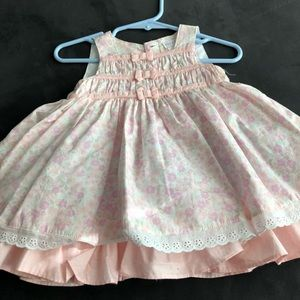 PIPER & POSIE PINK FLORAL BABY DRESS 0-3